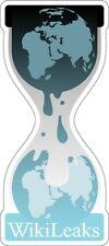 """WikiLeaks Sticker - 8"""" x 3.5"""""""