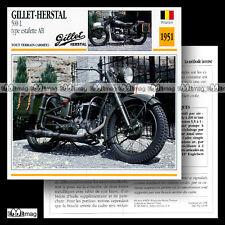 #043.05 GILLET-HERSTAL 500 L Type Estafette AB 1951 Fiche Moto Motorcycle Card
