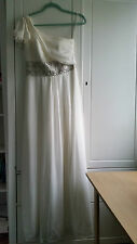 BNWT Monsoon Hyatt Wedding Prom Bridesmaid Dress in Ivory Cream - UK 8