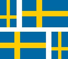4x sweden swedish flag decals sticker bike scooter car vinyl luggage helmet