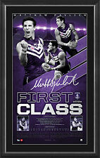 Matthew Pavlich Signed AFL Fremantle First Class Signed Vertiramic Print Framed