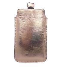 Hülle ECHTLEDER Gold Tasche aus Leder case Schutzhülle für Sony Xperia Z Ultra