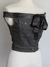 Jean Paul Gaultier junior Gaultier noir denim jean corset top fit uk 8/10
