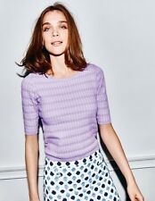 BNWT Boden Sophia Knitted Top UK 12 EU 38 US 8 Lilac