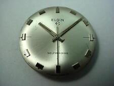 Selfwinding Elgin Vintage Watch Dial Pearl 27.96mm Silver Markers Base & Hands