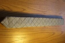 Men's Novelty Quilted Heather Grey Cotton Knit Tie (Skinny)