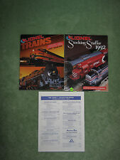 1992 Lionel train catalog book 1, Stocking Stuffer and price list