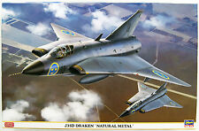 "Hasegawa 07434 J35D Draken ""Natural Metal"" Limited Edition 1/48 scale kit"