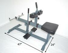Seated Calf Raise Machine Leg Unit Adjustable HD 2x3 Olympic or Std Weights New