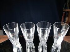 WATERFORD SHEILA 4 TUMBLERS / GLASSES FINE EXCELLENT CONDITION