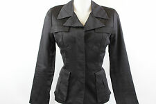 Gucci - Black Button Down Fitted Jacket - Size 42 / 8