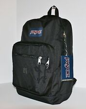 New JanSport City Scout Backpack Rucksack Black Bag School Hiking Free Shipping