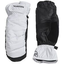 Men's Rossignol Puff Primaloft Mittens Insulated Gloves White Black Size XL