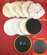 "11PC 7"" ELECTRIC CAR POLISHER/BUFFER SOFT/VELCRO & 7"" POLISHING WHEEL"
