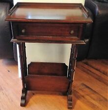 Vintage Wooden Telephone Table with Phone Book Rack Brandt Furniture Company
