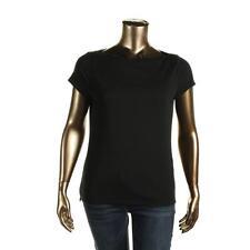 Lauren Ralph Lauren 2058 Womens Black Knit Pullover Top Shirt XL BHFO