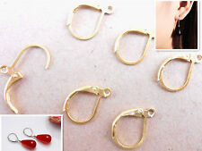 50PCS Lot Leverback Earring Findings Gold Plate Round Hoop Ear Wire For Bead