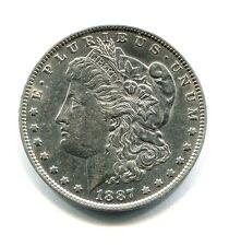 USA DOLLAR MORGAN SILVER PLATA 1887  O SC SIN CIRCULAR  UNCIRCULATED