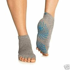 Toeless Non Slip Yoga Socks with Grips,High Quality Cotton Sticky Feet 1/2 Toe