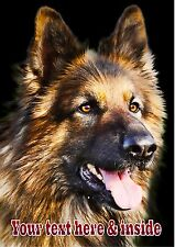 PERSONALISED ALSATION GSD GERMAN SHEPHERD DOG  BIRTHDAY ANY OCCASION CARD