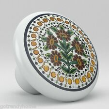 Round Talavera Design Ceramic Knobs Pulls Kitchen Drawer Cabinet Dresser 1197