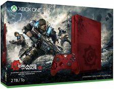 Xbox One S 2TB Console-Gears of War Red 4 Limited Edition Game Bundle Lates