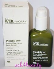 Dr.Andrew Weil For Origins Plantidote Mega Mushroom Face serum 1.7oz New In Box