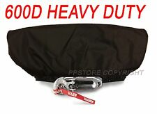 Waterproof Soft Winch Dust Cover Driver Recovery 8,000 - 17,500 lbs capacity BLK