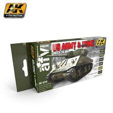 AK Interactive - US Army & USMC Green Colors Paint Set  AK04210