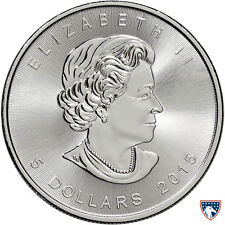 2015 1 oz Canadian Silver Maple Coin (BU) - SKU 0142