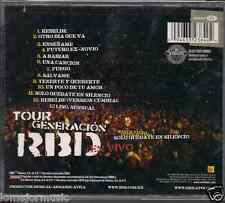 cd balada RBD Rebelde TOUR GENERATION EN VIVO bonus video SOLO QUEDATE SILENCIO