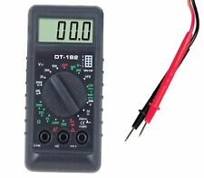 TESTER DIGITALE MINI DIGITAL MULTIMETER TESTER MULTIMETRO DIGITALE PUNTALI VOLT