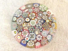 Studio Glass Paperweight - Peter McDougall - Closepack Millefiori - Sig. Cane