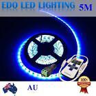 12V Blue 5M 5050 SMD 300 Leds LED Strips Strip Light Waterproof + Remote Dimmer