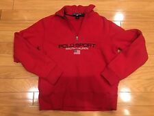 Ralph Lauren Polo Sport USA flag sweatshirt pullover red S vtg cookie suicide