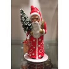 "Ino Schaller ""Red Coat Santa with White Star and Swirl Design"" Candy Container"