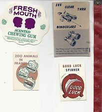 Vintage lot display Paper good luck spinner etc machine gum Free Shipping