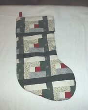 "Quilted Christmas Stockings Approx 17"" x 8""multi green, red, white, patterned"