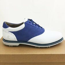 ASHWORTH MEN'S LEUCADIA TOUR GOLF SHOES SIZE:9 M WHITE/BLUE *SAMPLE* NEW! 17377
