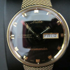 MIDO COMMANDER MEN'S WATCH AUTOMATIC DAYTODAY ALL STAINLESS S GOLD M84293221