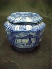 1929 MALING TRANSFER WARE RINGTON'S TEA CADDY BISCUIT JAR WINDSOR  5 BRIDGES