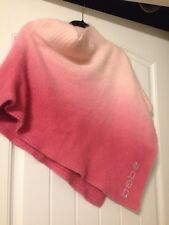 Womens Bebe Angora Shrug Poncho Sweater Pink Ombré One Size Small Medium Large