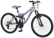 """Mongoose 24"""" Girls Maxim Full Suspension Mountain Bike Bicycle - Lavender"""