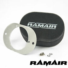 RAMAIR Carb Air Filters With Baseplate Weber 23/32 TLD 100mm Bolt On