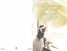 Wedding Bulletins: Dreaming of a lifetime ... U6240 (NEW in plastic 100 count)