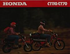 1980 HONDA CT110 & CT70 TRAIL 70 & 110 Original BROCHURE New