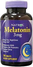 Natrol MELATONIN - 3 mg - 240 Tablets - Natural Sleep Aid
