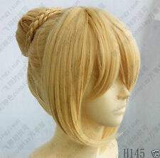 Hot New fashion Fate Stay Night Saber Cosplay Wig Gold color