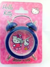 HELLO KITTY GIRLS Timbre Doble Azul Dormitorio Mesita De Noche Mini Despertador