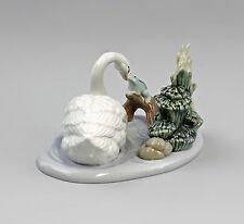 """Porzellan Schwan und Frosch """"Freunde im See"""" Nao Lladro  Spanien 9956068"""